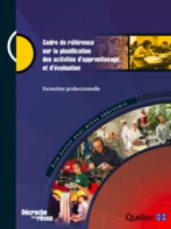 Cadre de référence sur la planification des activités d'apprentissage et d'évaluation